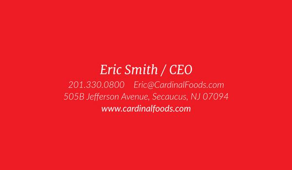 Cardinal Foods Business Cards