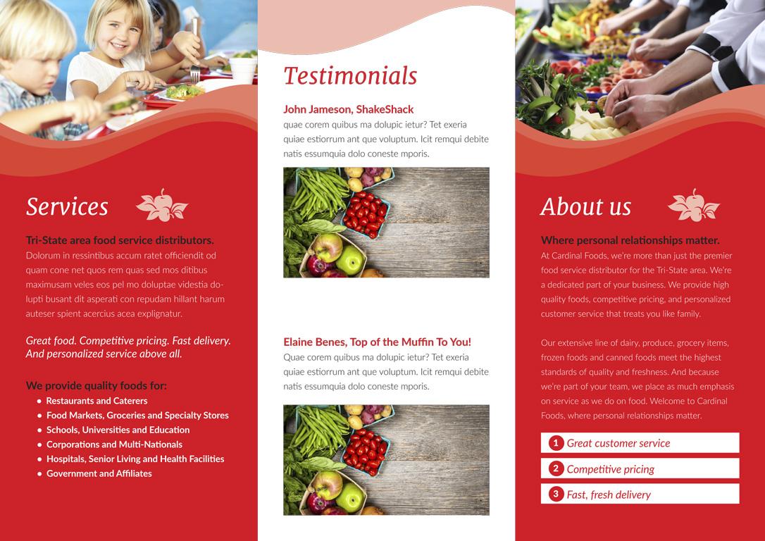 Cardinal Foods Tri-Fold Brochure
